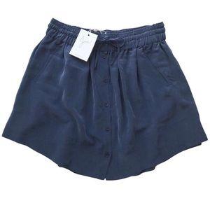 Joie Wendolyn 100% Silk Navy Skirt - Medium
